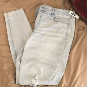 Old navy high rise super skinny jeans